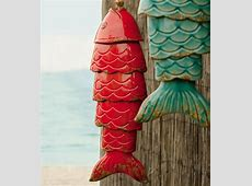 Wind & Weather Colored Porcelain Koi Fish Wind Chime