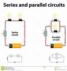 circuit connections series and parallel circuits stock vector illustration of battery relationship 67662763