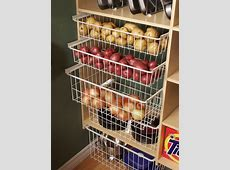 pantry slide out baskets for vegetables that need air
