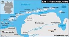 Ostfriesische Inseln Karte - frisian islands map and map of the frisian islands history