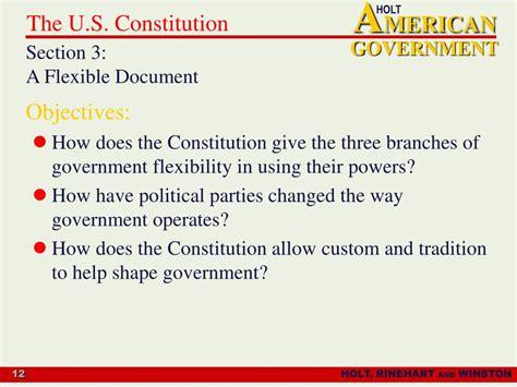 Flexible Constitution
