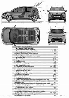 Renault Twingo 2 2007 2012 Fiche Technique Dimensions