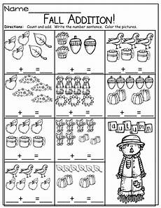 maths addition worksheet for kindergarten 9339 fall math and literacy packet kindergarten kindergarten math worksheets fall math