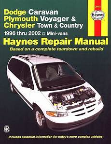 books about how cars work 1996 plymouth voyager head up display dodge caravan voyager town country 1996 2002 repair manual