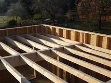 plan maison ossature bois maison toit plat ossature bois