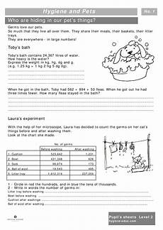 hygiene and pets worksheets for kids level 2 personal hygiene