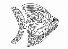 Malvorlagen Mandala Fische Fish Zentangle Step 1 Fishes Coloring Pages