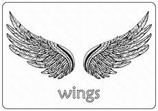 free printable wings coloring pages wing wings coloring
