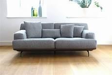 Sofa Lendum 2er Grau Webstoff Big Xxl Couch Garnitur 4
