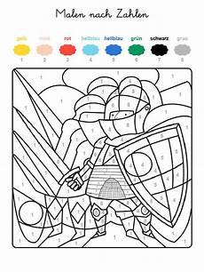 Ausmalbilder Zahlen Und Farben Ausmalbild Malen Nach Zahlen Ritter Ausmalen Kostenlos
