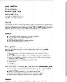 resume for human services field resume templates human