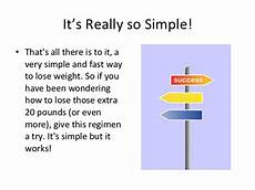 a simple and fast way to lose weight how to lose 20 pounds