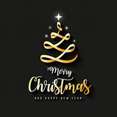 elegant merry christmas banner with gold ribbon vector free download