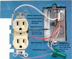 white wire is neutral receptacle wiring home wiring green building central