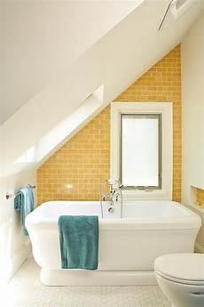 yellow subway tile contemporary bathroom renewal