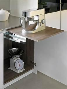 Küchenschrank Mit Ausziehbarer Arbeitsplatte - mixer lift contemporary kitchen by brayer