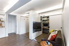 37 square meters apartment with moving wall design small