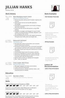 cv journalism internship intern resume exle