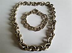 collier argent grosse maille collier et gourmette grosse maille en argent 925 collier longueur 46cm gourmette longueur 19 cm