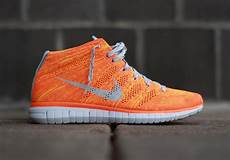 nike free flyknit chukka quot total orange quot available