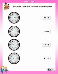 time worksheets for ukg 3225 match the clock with the time math worksheets mathsdiary