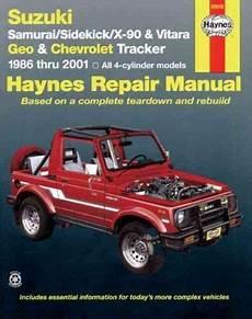 best car repair manuals 2003 chevrolet tracker electronic throttle control suzuki samurai sidekick x 90 vitara geo chevrolet tracker automotive repair manual with