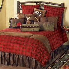 gunnison plaid bed queen log cabin ideas decor