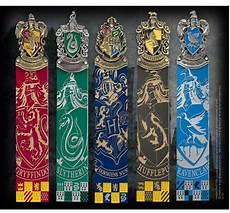 harry potter hogwarts house crest bookmarks official noble