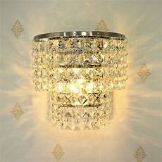 crystal wall sconce light fixture modern indoor crystal wall sconce lighting fixture contemporary glass l ebay