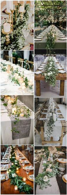 rustic greenery wedding table decorations you will love chicwedd
