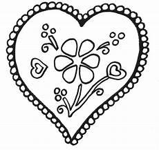 Ausmalbild Blumen Herz Ausmalbild 1ausmalbilder