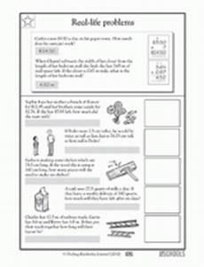 4th grade 5th grade math worksheets everyday math problems greatschools