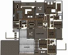 modern house plans 2012 modern courtyard house plan