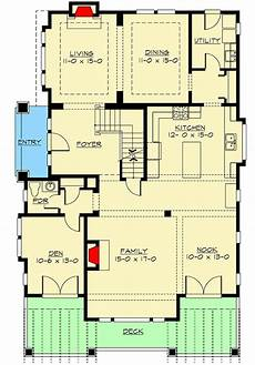 front sloping lot house plans plan 2355jd for the front sloping lot in 2020 floor