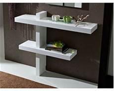 console de lit sur console meuble blanche zen table de lit