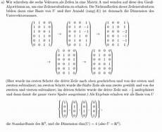 basis bestimmen einer matrix mathelounge