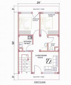 20x30 house plans 10 x 30 house plans new 20 x 30 sqf east facing house plan