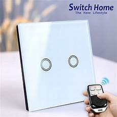 switch home 86 type wireless wall switch light switch 130 240v rf433 tempered glass panel smart