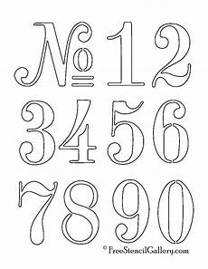 Numbers Stencil Outdoor Decor Lette