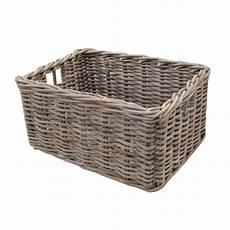 Basket Storage by Rectangular Grey Buff Rattan Storage Baskets