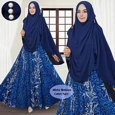 Setelan Pakaian Muslimah Wanita Gamis Syari Jilbab Bergo