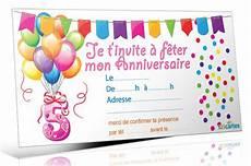 Texte Carte Invitation Anniversaire 5 Ans