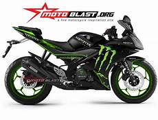 Yamaha R15 Modif by Modif Striping Yamaha R15 Black Green Motoblast