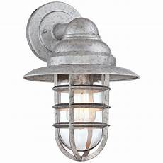 marlowe 13 1 4 quot h galvanized hooded cage outdoor wall light style 8f956 in 2019 products