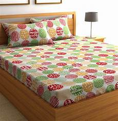 flipkart smartbuy cotton geometric double bedsheet buy flipkart smartbuy cotton geometric