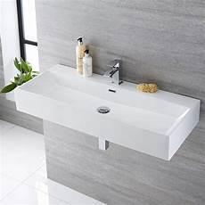 lavandino bagno rettangolare lavabo bagno sospeso rettangolare in ceramica 1000x420mm