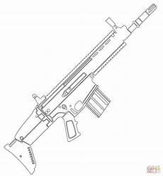 Ausmalbilder Zum Ausdrucken Nerf Fn Scar Assault Rifle Coloring Page Free Printable