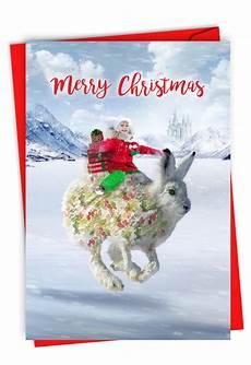 merry christmas card for fun rabbit child greeting holiday gift c2940hxsg walmart