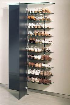 Elegantes Schuh Wandregal Mit Glast 252 Ren Schuhschrank