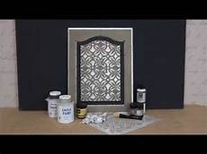 Kitchen Door Transfers by How To Stencil Tutorial Distressed Silver Leaf Chalk